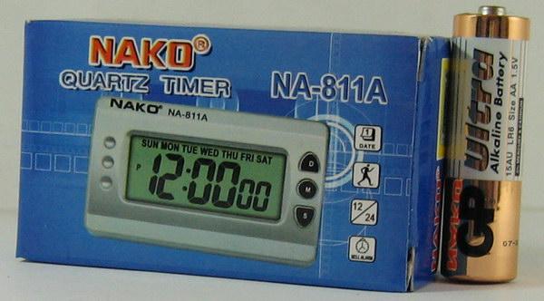 Часы автомобильные №811A NAKO (с будильн.)
