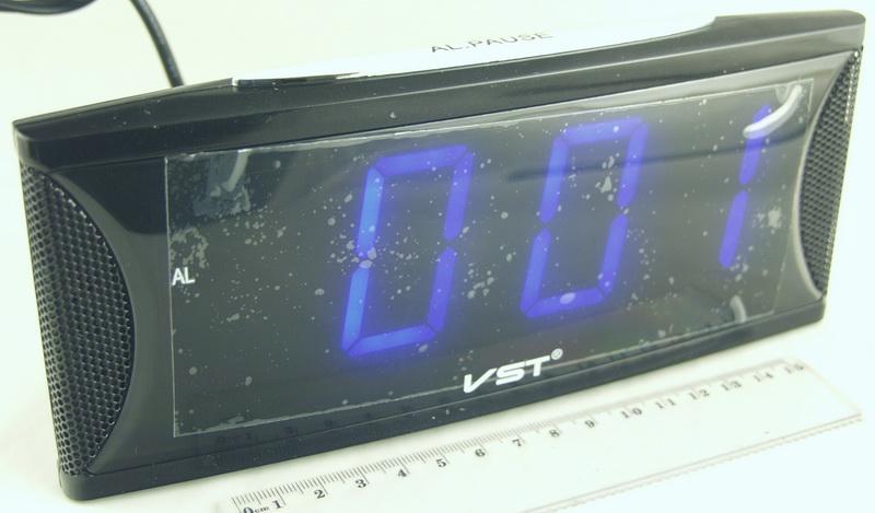 Часы-буд. электронные VST-719-5 (син. циф.)