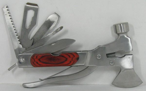 Инстр. HS-10W1 (молот.,пасс.,ножи, топорик) дер ручка,чехол