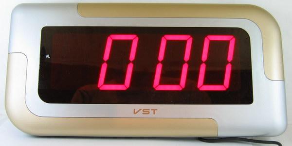 Часы-буд. электронные VST-739-1 (крас. циф.)
