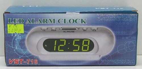Часы-буд. электронные VST-716-5 (син. циф.)