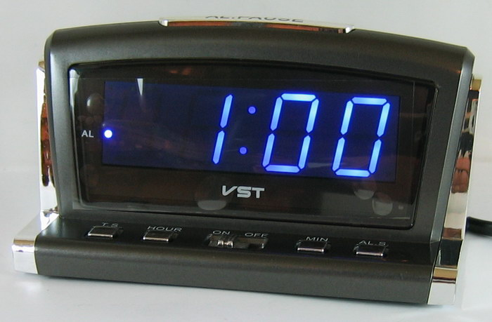 Часы-буд. электронные VST-718-5 (син. циф.)