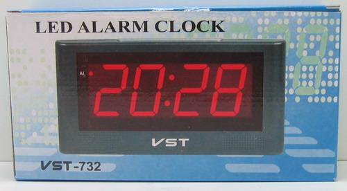 Часы-буд. электронные VST-732-2 (зел. циф.)
