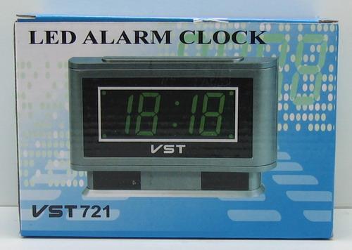 Часы-буд. электронные VST-721-2 (зел. циф.)