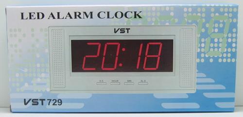 Часы-буд. электронные VST-729-1 (крас. циф.)
