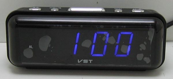 Часы-буд. электронные VST-738-5 (син. циф.)