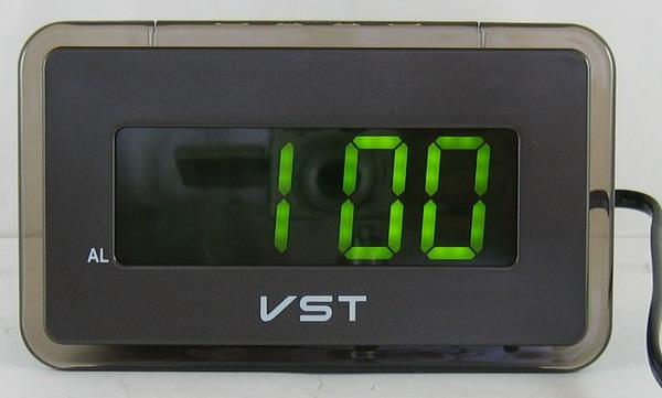 Часы-буд. электронные VST-728-2 (зел. циф.)