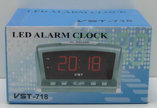 Часы-буд. электронные VST-718-1 (крас. циф.)