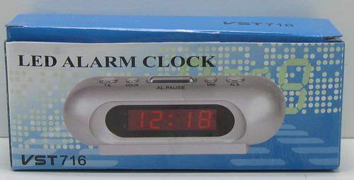 Часы-буд. электронные VST-716-2 (зел. циф.)