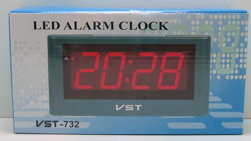 Часы-буд. электронные VST-732-5 (син. циф.)