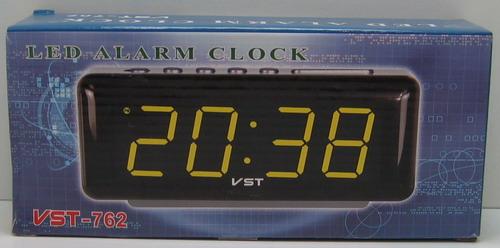 Часы-буд. электронные VST-762-1 (крас. циф.)