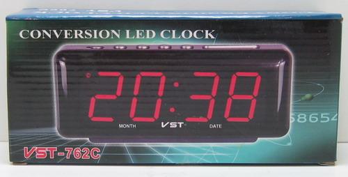 Часы-буд. электронные VST-762W-1 пров. датчик тем.