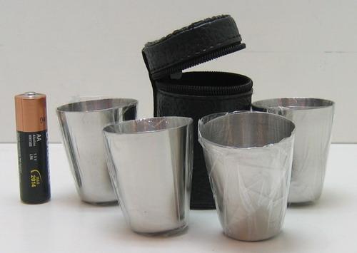 Набор мет.стаканов (4 шт в футл.) мал. метал.