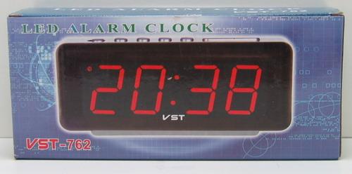 Часы-буд. электронные VST-762-5 (син. циф.)