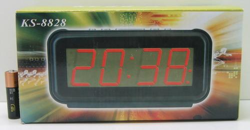 Часы-буд. электронные №8828 (крас. циф.)
