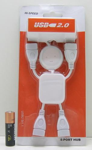 Разветвитель USB (4 входа) с провод. (человек)
