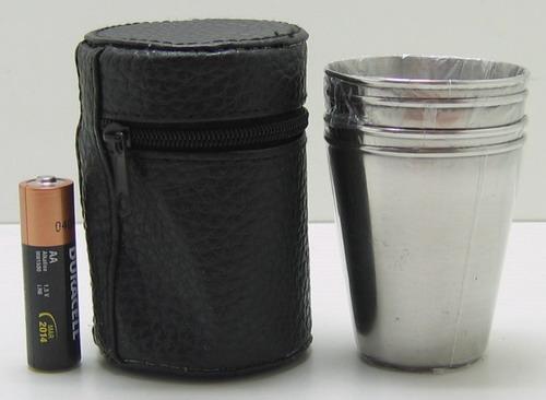 Набор мет.стаканов (4 шт в футл) сред. M14