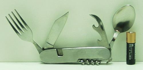 Инстр.  K106A тур.набор (вил.,лож., штоп., нож)