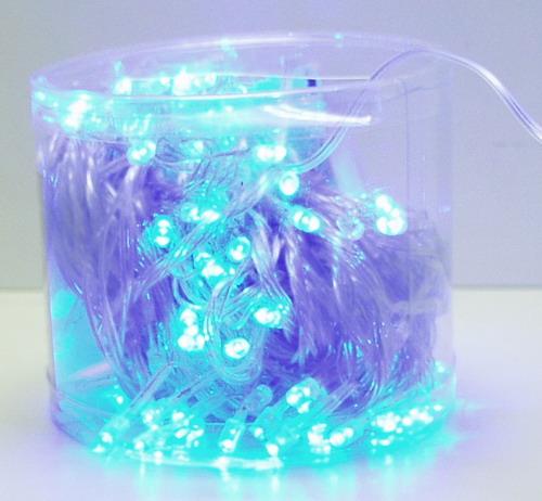 Гирлянда 160 светодиод (6 мм) голуб. прозрачн. NEW