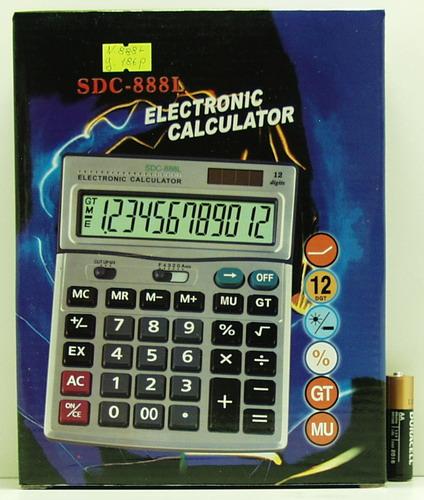 Калькулятор 888 (SDC-888L) 12 разр. больш. экр.
