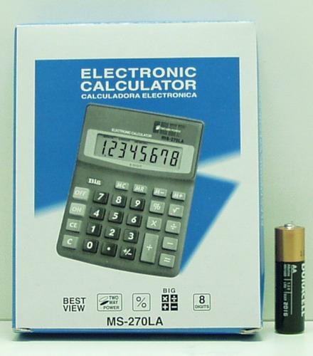 Калькулятор 270 (MS-270LA) 8 разр. сред.