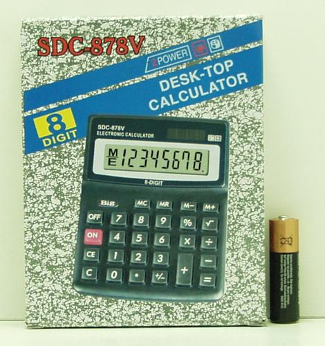 Калькулятор 878 (SDC-878V) 8 разр. сред.
