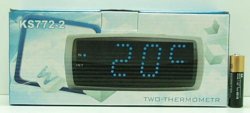 Часы-буд. электронные №772-2 син. светод., датчик