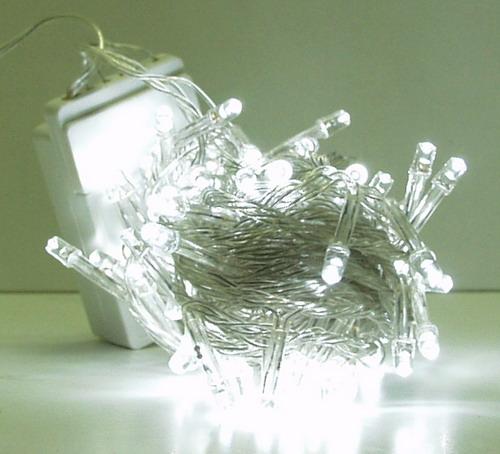 Гирлянда 100 светодиод (6 мм) белые прозрачн. NEW