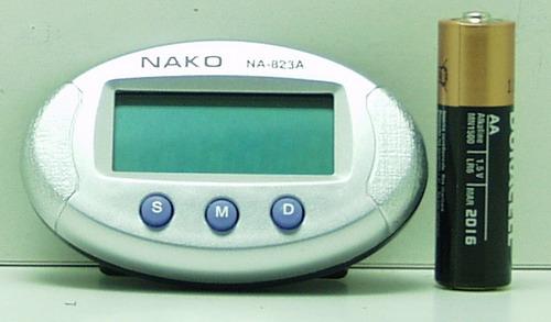 Часы автомобильные №823A NAKO (с будильн.)