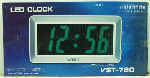 Часы-буд. электронные VST-780-2 (зелен. циф.)