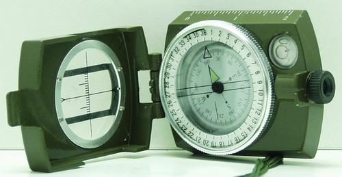 Компас с плав. катушкой (зеленый) №4580 метал.