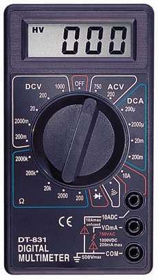Цифровой Мультиметр DT-831 (с описанием.)