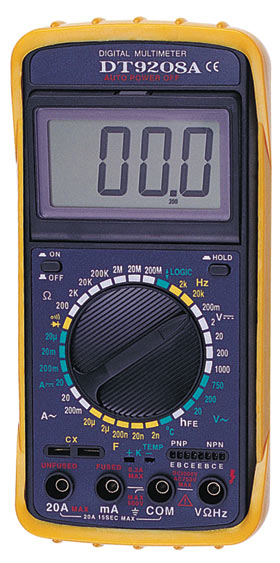 Цифровой Мультиметр DT-9208A темп, част, с описан