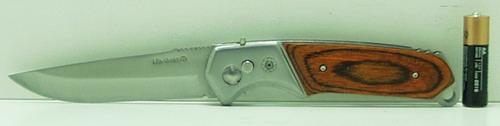 Нож 333A больш. в чехле с дер. ручк.,пруж/фикс
