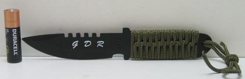 Нож А 223 мал. (зел. плетен. чехол) черн.