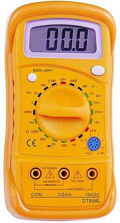 Цифровой Мультиметр DT-858 L (в калоше)(838 L)