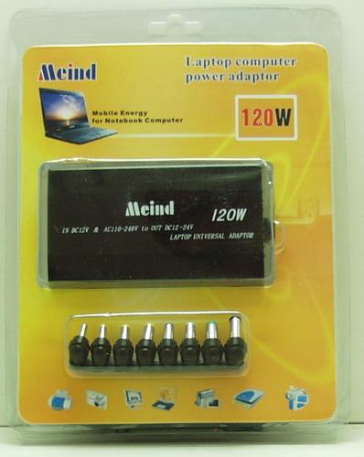 Блок питания для ноутбука сетев.+ авто (12-24V) 120 (180)W Meind