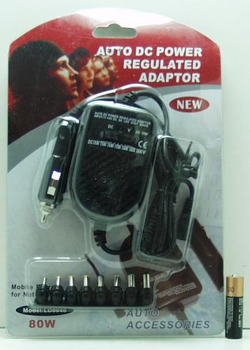 Блок питания для ноутбука авто 80W (12-24V) LD-8040