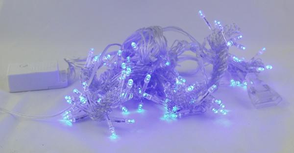 Гирлянда 200 светодиод. (шторы) голуб. 1,8м*1,8м