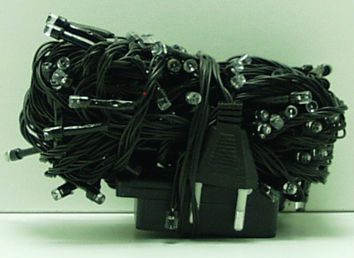 Гирлянда 140 светод. (6 мм) разноцв. черн. шнур