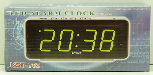 Часы-буд. электронные VST-762-4 (ярк. зел. циф.)