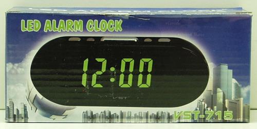 Часы-буд. электронные VST-715-5 (син. циф.)
