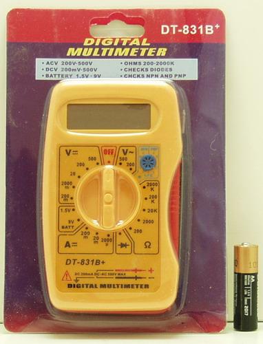 Цифровой Мультиметр DT-831B+ (желтый)