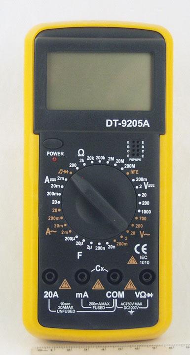 Цифровой Мультиметр DT-9205A 20A max (в калоше) дешев.