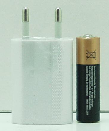 Блок питания для MP3 (USB разъем, без шн.) 5V 1A белый №301 (P9)