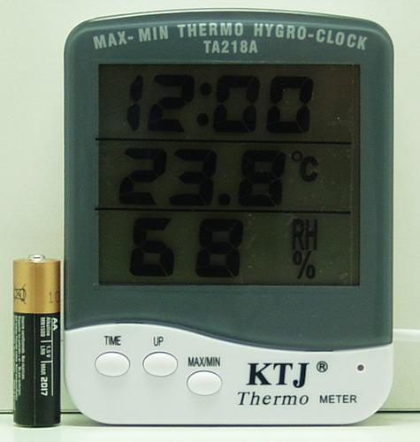 Термом. внеш.+ гидром. цифровой TA-218A с часами