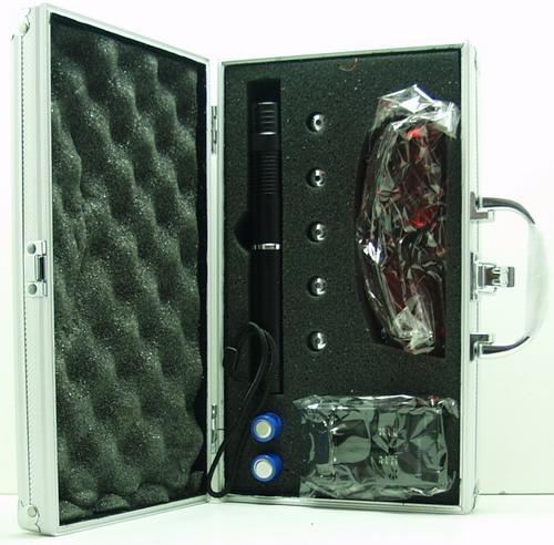 Лазерная указка синяя 50000W (2 аккум., очки) B-008+ 5 насад.
