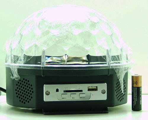 Светодиодный диско шар YX-024-4M USB, SD