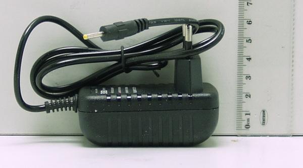 Блок питания (5V 2A) для планшета №5-2E (с индикат.) тонк. желт. штекер