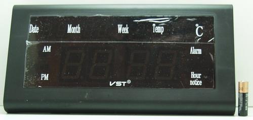 Часы-буд. электронные VST-795W-1 (крас. циф.)